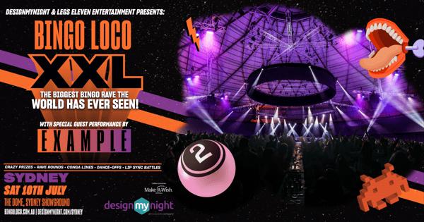 Bingo Loco XXL Sydney w/ EXAMPLE tickets